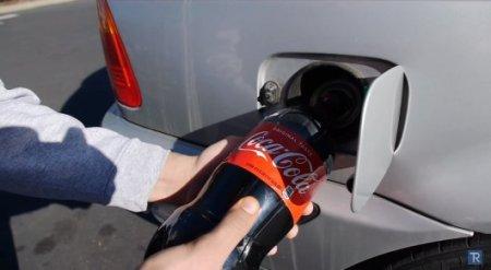 Что произойдет, если кока-колу залить в бензобак автомобиля