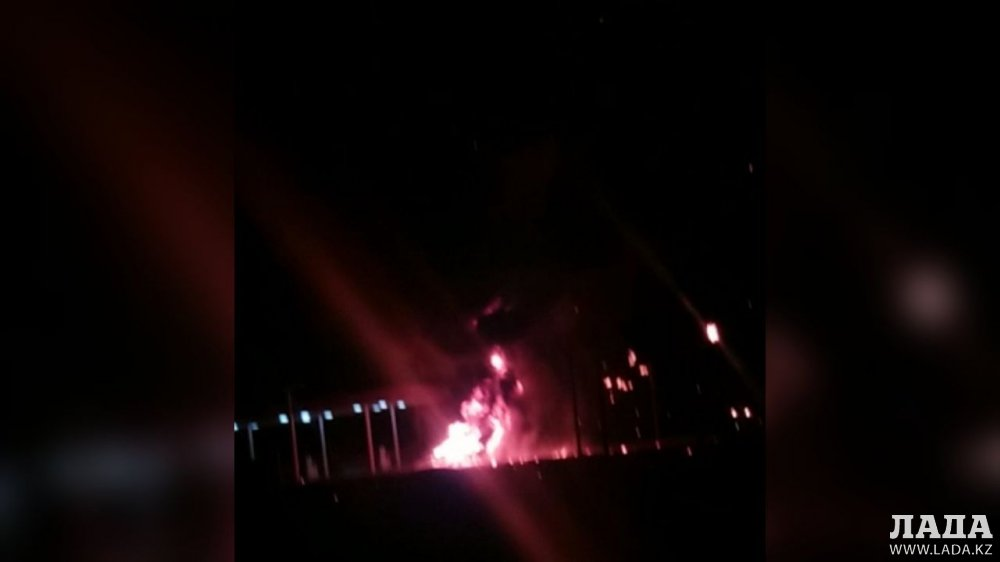 Взрыв автомобиля на газовой заправке..
