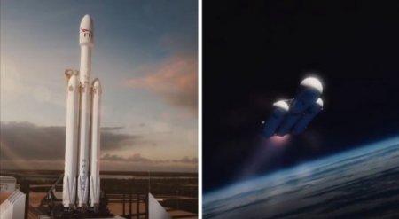 Новая ракета-носитель Falcon с вишневой Tesla Roadster отправится к Марсу