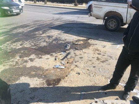 На автодороге в 27 микрорайоне Актау перевернулся автомобиль