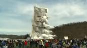 Взрыв небоскреба в США сняли на видео
