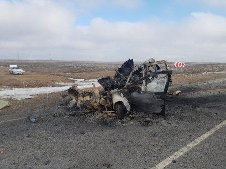 Семеро человек погибли в аварии на трассе Актау-Бейнеу