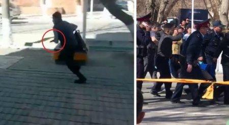 Стрельба в Кызылорде попала на видео