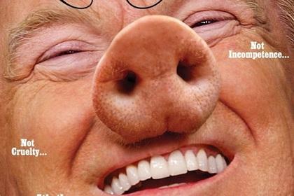 Трампа превратили в свинью