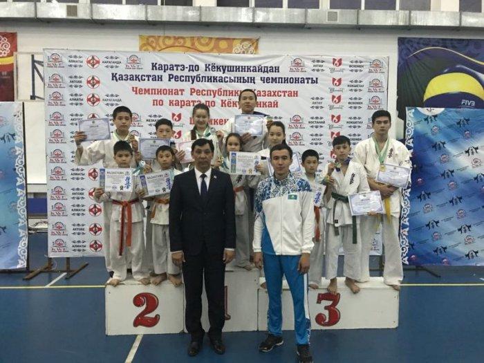 Спортсмены из Актау завоевали 26 медалей на двух республиканских турнирах по карате-киокушинкай в Шымкенте