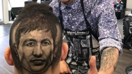Американец выбрил на затылке клиента портрет Головкина