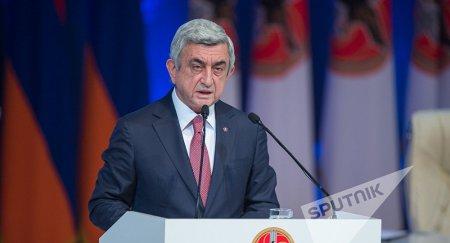Серж Саргсян: в Армении не может царить атмосфера вседозволенности