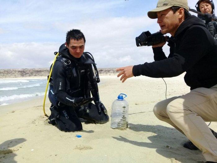 Подводным миром Каспия заинтересовались дайверы из Японии