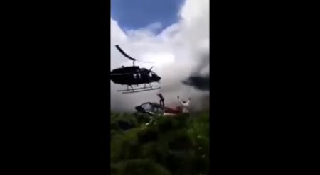 Смертельная посадка: прилетевший на помощь вертолет рухнул на мужчину