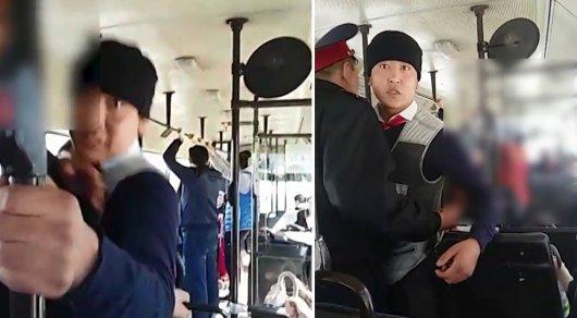 Кондуктор кидался на пассажира автобуса в Астане