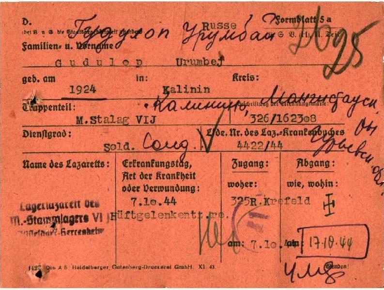 Архивные данные: Через фашистский плен прошли 586 жителей Мангистау