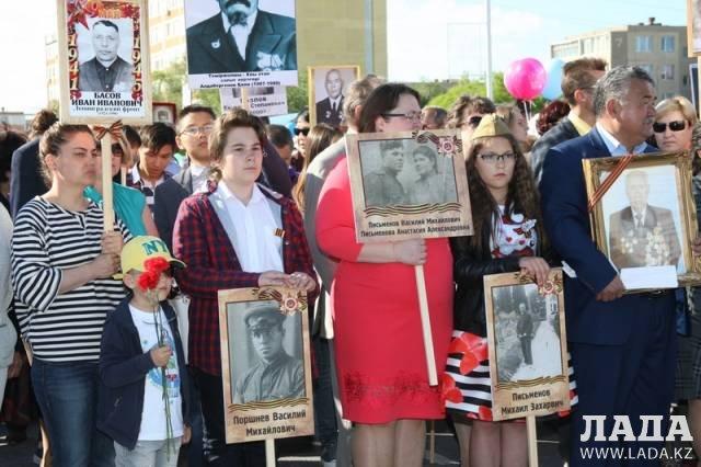 Акция «Бессмертный полк» в Актау прошлых лет: Как это было