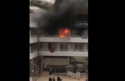 Пьяные туристы подожгли свой отель