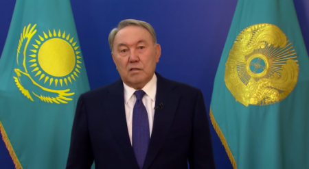 Назарбаев записал обращение к казахстанцам