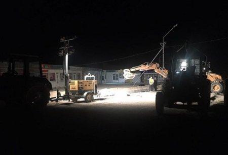 Акимат Актау: Работы по ремонту дороги у рынка «РусКаз» ведутся в две смены