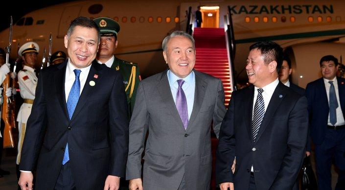 Назарбаев прибыл в Китай для встречи с Си Цзиньпином