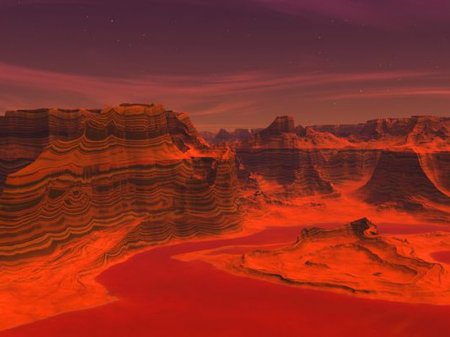 Минералы показали, что юный Марс был полон снега, льда и вулканов