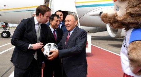 Назарбаев прилетел в Москву на матч ЧМ по футболу
