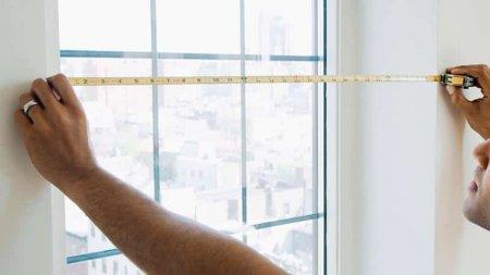 Измерить окна для установки новых жалюзи