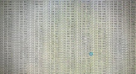 Заполнил более 17 миллиардов ячеек. Пользователь дошел до конца Excel