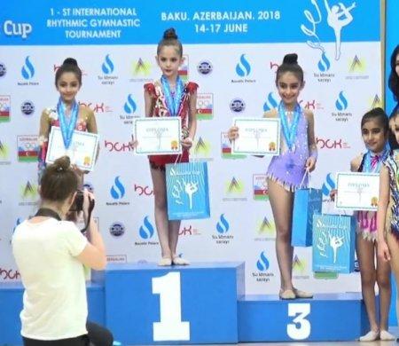 Юные гимнастки из Актау завоевали пять медалей на международном турнире в Баку