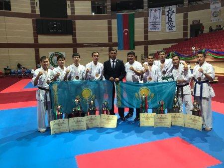 Спортсмены из Мангистау завоевали пять медалей на чемпионате мира по киокушинкай-карате в Баку