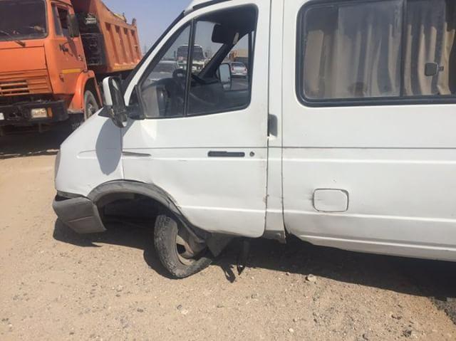 В пригороде Актау  столкнулись пять машин