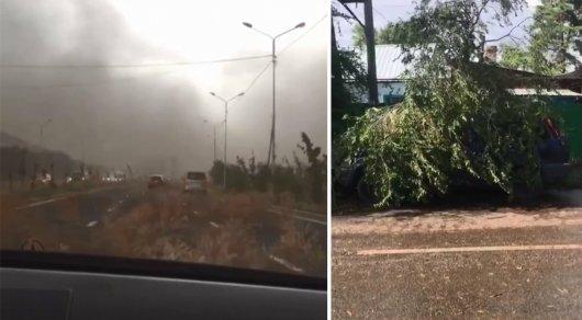Песчаная буря в Алматы: В Сети публикуют фото и видео