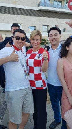 Актауские на ЧМ с президентом Хорватии