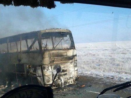 Пожар в автобусе в Актюбинской области: дело направлено в суд
