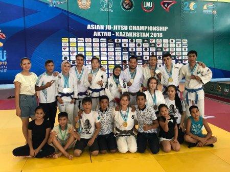 Спортсмены из Мангистау выиграли 12 наград на чемпионате Азии по джиу-джитсу