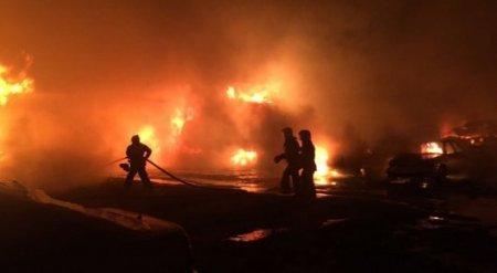 45 машин сгорели на штрафстоянке. В Шымкенте расследуют факт поджога