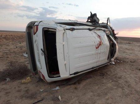 Смертельная авария в Жанаозене: Предположительно скончались три человека