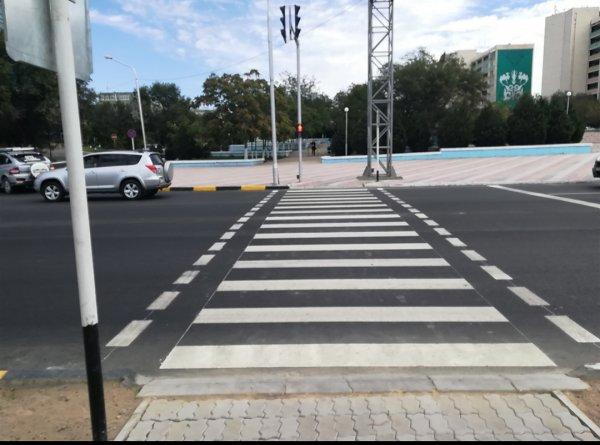 Пешеходный переход в 7 микрорайоне Актау «поменял прописку»