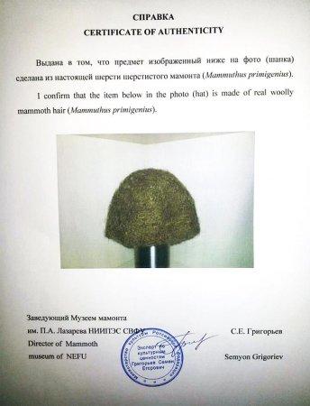 В Якутии продают единственную в мире шапку из шерсти мамонта