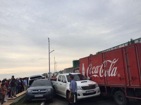 В крупном ДТП в Актау пострадала женщина