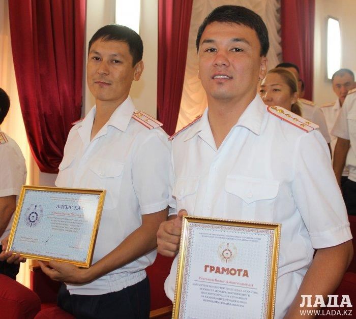 В Мангистау полицейских представили к наградам