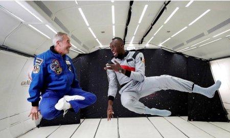 Самый быстрый на Земле и в космосе: Усейн Болт выиграл забег в невесомости