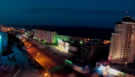 Timelapse. Nice view of the Aktau city & Caspian Sea. ВИДЕО