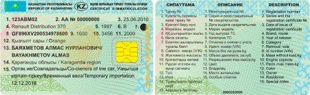 Новые техпаспорта с чипами появятся в Казахстане с 1 января 2019 года