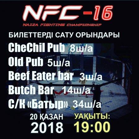 В Актау пройдет международный турнир по боям без правил NFC-16