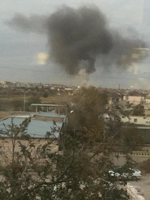 В 21 микрорайоне Актау горел мусор