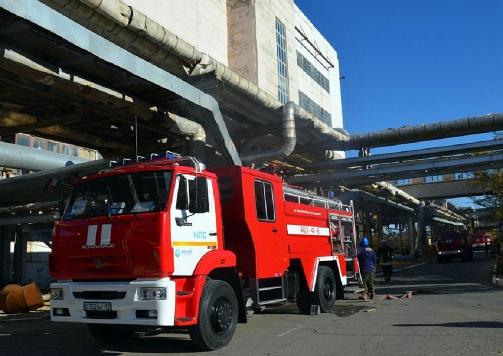 Пожарные «потушили огонь» в кабельном тоннеле ТОО «МАЭК-Казатомпром»