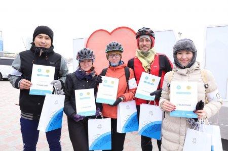 В честь Дня Первого Президента в Актау состоялся велопробег