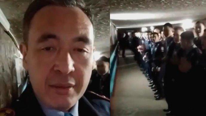 В Караганде уволен полицейский, ставший героем скандального видео