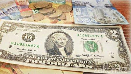 Курс доллара составил 377,54 тенге на торгах