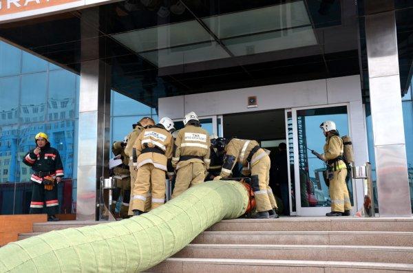 Пожар «тушили» в гостинице «Нур-Плаза» в Актау