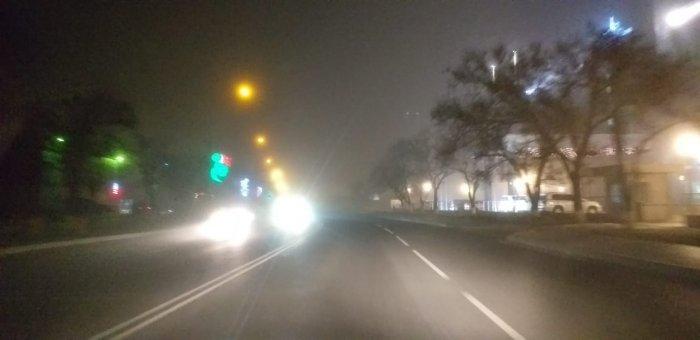 Актау накрыл туман