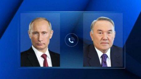 Перед отставкой Назарбаев провел телефонный разговор с Путиным