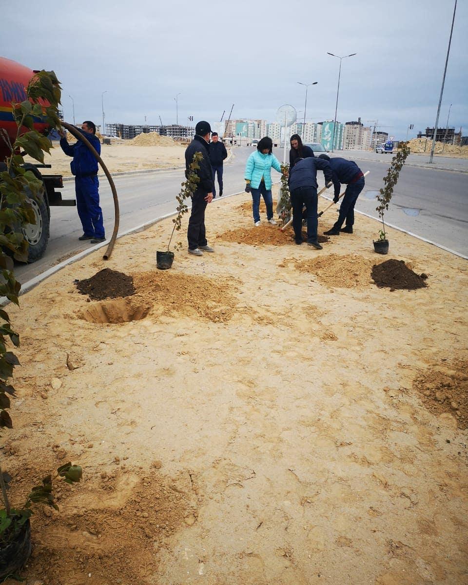 Актау принял участие в акции «Национальный день посадки леса»